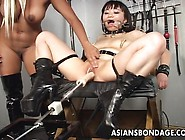 Blonde Mistress Playthings Her Japanese Slavegirl Inside Submiss