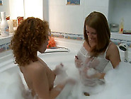 Two Magnificent Gingerhead Svelte Teens In The Bathtub Undress F
