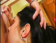 Bulgarian Brunette Is Sucking Cock For Money While Kneeling In F
