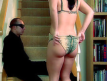 Katja Kassin Gets Her Pussy Pounded Deep On The Stairs