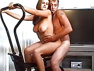 Italian Busty Babe Rides Her Hubbys Cock At Home