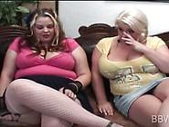 Blonde Bbw Lesbo Seduces Cutie Into Sex