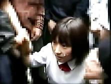 Public Bukkake For Japanese Schoolgirl