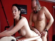 Disgusting Fat Old Dude Edgar Fucks Teeny Brunette From Behind I