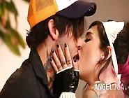 Extremely Punk Princess Joanna Eating Cock