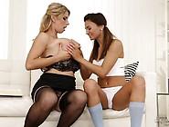 Kinky Clit Slit Slurping Keira Katarina And Hart Lova Eat Minge