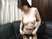 Busty Japanese Babe Mayu Toys Herself,  Gets Drilled And Swallows