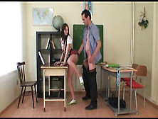 Tall Cutie Gets Fucked In The Classroom