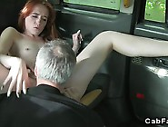 British Redhead Has Some Great Sex In The Back Of A Taxi To Get
