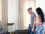 Babe With Beautiful Black Hair Portia Harlow Enjoying A Yummy Co
