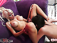 Breath Taking Pussy Licking Action In Leasbian Threesome With Ri