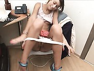 Office Teen Strip Hairy Pussy