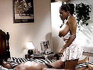 Gleaming Ebony Cowgirl With Big Tits Moaning While Getting Hamme