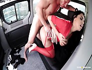 Fucked In Traffic - Sexy Russian Brunette Babe Gives Blowjob And