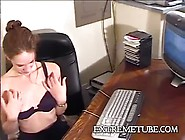 Teen Stripping In The Office - Train Wreck