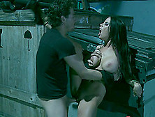 Furious Hardcore In An Alley With A Big Titty Babe