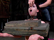 Screams When Slave With Nice Body Is Getting Tortured In Bdsm