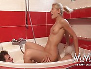 Stunning Blonde Angel Fucked In The Bathtub