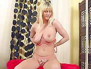 Blonde Vanessa Fingering Her Hairy Bush