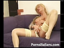 Matura Bionda Italiana Pompino Da Urlo ! Italian Blonde Mature B