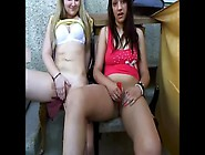 Two Teens Mastrubate On The Balcony Outside