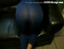 See Through Leggings Visible Thong Booty