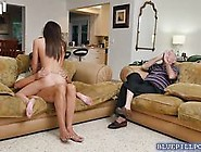 Old Man With A Good Dick Fucks A Teen Babe So Hard