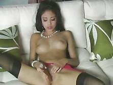 Alluring Alexis Silver Dildo Fucks Her Moist Pussy Hole