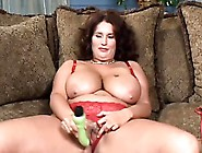 Hot Mature With Enormous Breasts Masturbates And Gives Blowjob