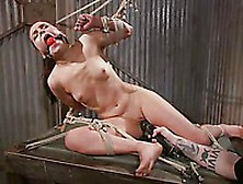 Master Ties Up Juliette March And Suspends Her From The Ceiling