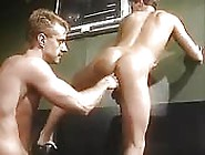 Mustached Mature Dude Finger Fucking A Younger Stud