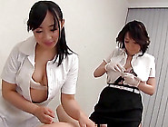 Asian Doctor And Nurse Are Fucked By A Lucky Patient In Threesom