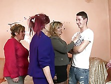 Mature Moms Take Young Boy To Heaven