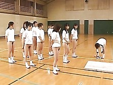 Asian Teens With Hairy Pussies And Hot Asses Stretch During Gym