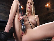 Cadence Lux Fucking Machines In All Natural Blonde Babe Cadence
