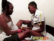 Black Sluts Engage In Some Lesbian Sex