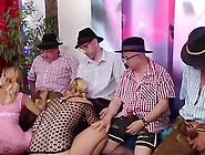 Hot German Lederhosen Gangbang Bukkake Fuck Party Orgy