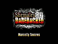 Marcelly Tavares - Slim Tgirl Marcelly Fucked Bareback