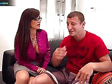 Busty Woman With Long Hair,  Lisa Ann Was Eager To Feel A Hard Co