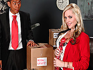 Voluptuous Blonde Slut In Black Stockings Getting Fucked So Hard