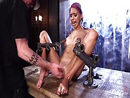 Device Bondage: Bdsm Action For Hot Squirting Babe Who Is Tied A