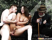 Bill Bailey Makes Brunette Abella Danger With Big Bottom Suck Hi