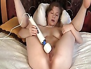 Happy Woman With Juicy Breasts Checks Out New Vibrating Toy In L
