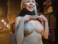 Mofos - Euro Babe Strips In The Street For Cash
