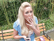 Cute Blonde Woman Seduced By A Handsome Stranger For A Shag