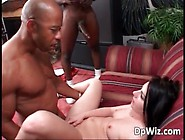 Two Big Black Cocks And White Bitch