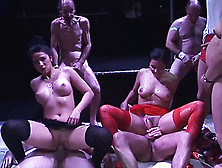 Bukkake Orgy - Cute Teen In Extreme Gangbang Party