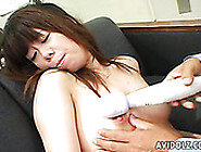 Horny Hubby Rubs Hairy Clit Of His Lusty Asian Bitch With Vibrat