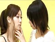 Asian Lesbian Deep Tongue Kiss
