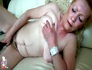 Her Hairy Granny Pussy Takes A Black Toy